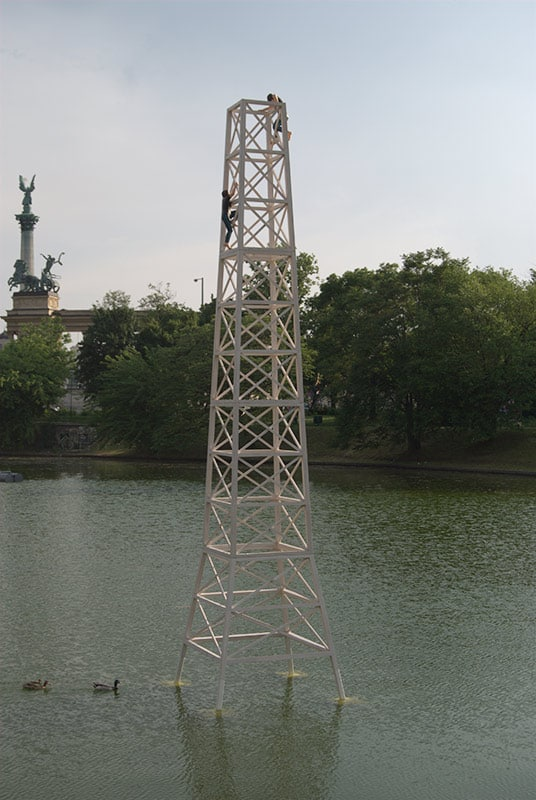 Tower installed in Budapest City Lake