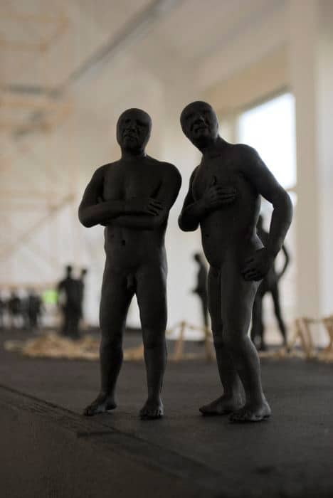 Two men sculptures
